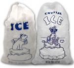 Sac de glace en plastique jetable matériel de vin de vigin de LDPE
