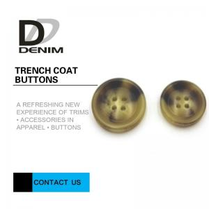 China Bright Color Trench Coat Buttons High Wear Resistance With Sewing Hole on sale