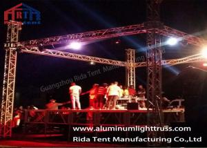 China Sound And Lighting Concert Truss System / Spigot Type Aluminum Stage Truss on sale