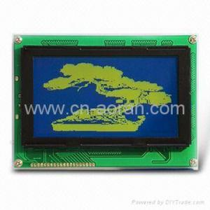 China STN 240x128 Graphic LCD Module with backlight on sale
