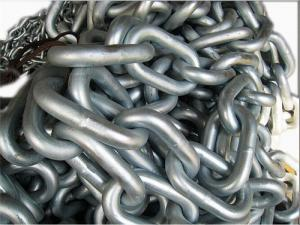 Quality Welded Marine Anchor Chain / Studless Link Anchor Chain With Class Certificate for sale