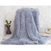 Healthy Warm Pv Fleece Fake Fur Blanket For Home / Hotel Bedding And Throws