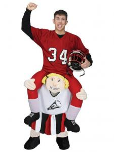 China Adult Ride a Cheerleader Costume Carry Me Mascot Fancy Dress for Party on sale