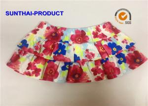 China Elastic Waistband Little Girl Summer Dresses 2 Layers Ruffle Skirt With Panty on sale
