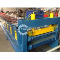 China Galvanized Steel Deck Floor Tile Making Machine , Metal Decking Roll Forming Machine on sale