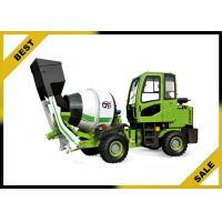 China 0.5 Cbm Mobile Mixer Truck Water Implement Automatic , Reverse Rotation Mobile Concrete Mixer on sale