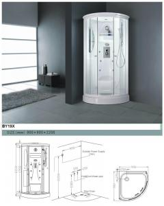 China Luxurious Shelf and Ventilation Fan Framed Glass Multifunctional Shower Room  on sale