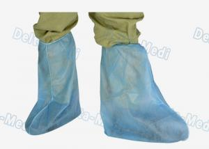 China PP Polypropylene Disposable Shoe Covers Anti Dust Above Ankle To Knee on sale