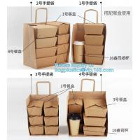 Custom Logo Printed Grocery Packaging Craft Brown Kraft Paper Shopping Bag with Handle,Kraft Paper Shopping Bag , Paper