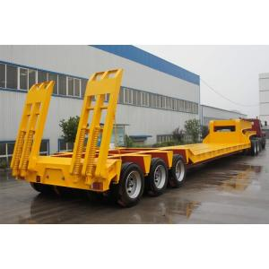 China Low Bed 4 Axle Heavy Duty Lowboy Truck Trailer / Container Diesel Semi Tractor on sale
