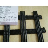 China PVC Coated Polyester Geogrid Anti Aging For Railway , 30KNM - 800KNM on sale
