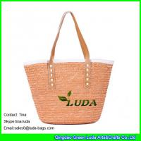 LUDA 2013 fashion straw shoulder bags bright wheat lady straw handbag
