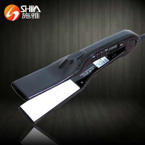 China Professional cold solar digital LCD display top ceramic hair straightener falt iron on sale