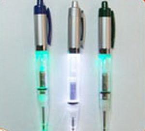 China AL Material Flashing logo projector pen with Replacement batteries on sale