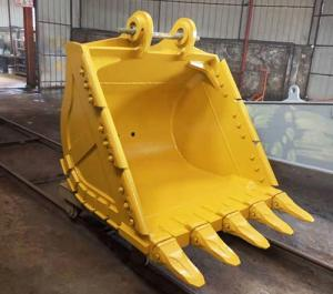 China Yellow Color Backhoe Rock Bucket Multifunctional 0.8-7 Cubic Meter Capacity on sale