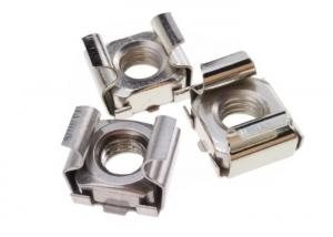 Polished Hardware Nuts Bolts Sqaure Mounting Stainless Steel M6 Cage