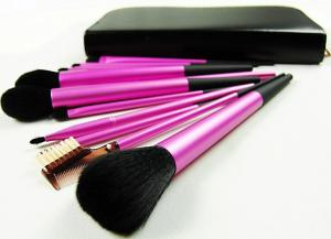 China Silicone Cosmetic Brush Sets / Hair Curl Brush Handle Cosmetic on sale