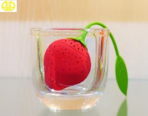 China Fruit Shape FDA Custom Silicone Products Tea Strainer Filter on sale