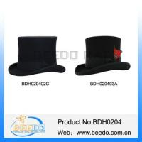 Traditional wool felt tuxedo top hat theatre for sale