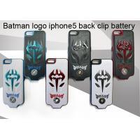 China batman logo iphone5 power case, back clip Rechargeable power case on sale