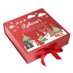 Custom printing large size folding christmas eve hamper magnetic gift packaging box with ribbon