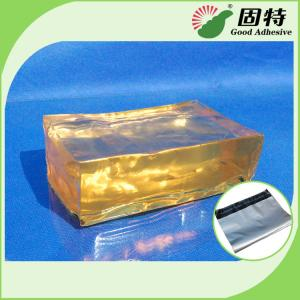 China Strong Packaging Hot Melt Adhesive Tape Semi Transparent Yellow and semi-transparent block on sale