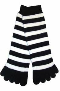 China soft  Acrylic + Spandex Black five finger toe socks for running ,women toe socks on sale