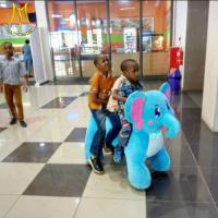 China Hansel amusement park kids walking battery operated ride on elephant on sale