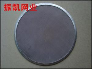 China 99.99% efficiency stainless steel sintered filter disc on sale