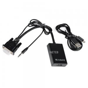 China 1080P VGA to HDMI Audio Video Cable Adapter Female Converter with USB Cable on sale