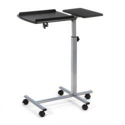... China Angle Adjustable Swivel Laptop Table , Bed Side Reading Desk  Black For Computer DX