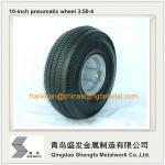 la roue en caoutchouc pneumatique 4.10/3.50-4, air de 10 pouces a rempli roue en caoutchouc 3.50-4, la roue pneumatique 3.50-4