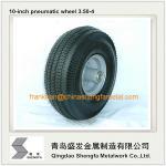 a roda de borracha pneumática 4.10/3.50-4 de 10 polegadas, ar encheu a roda de borracha 3.50-4, roda pneumática 3.50-4