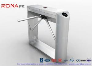 China Barcode Reader Tripod Turnstile Security Gates With Gym Entrance Control With 304# SUS on sale