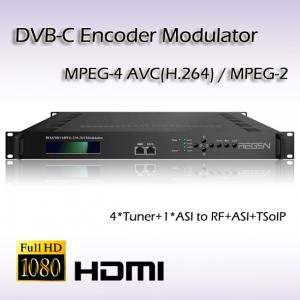 China 4*DVB-S2 TO DVB-C Re-Modulator TransModulator with CI slot  DVB-T, DVB-C, ATSC, ISDB-T RF output optional on sale