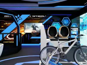 China new virtual reality exercise and amusement rides indoor training vr racing simulator vr bicycle on sale