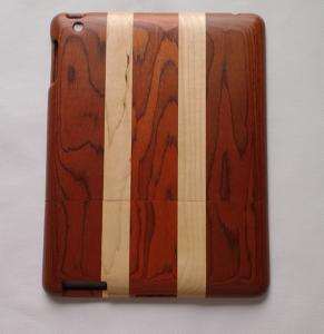 China Red Rosewood & Maple Mixed Strip Wood Case For Ipad,Smart Phone Cover on sale