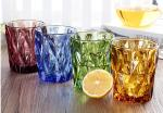 Lemon Tea Solid Glass Products 300ml Colorful Drinking Cup Machine Made OEM