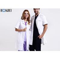 Custom Medical Scrubs Uniforms , White Doctor Lab Coat For Man / Women