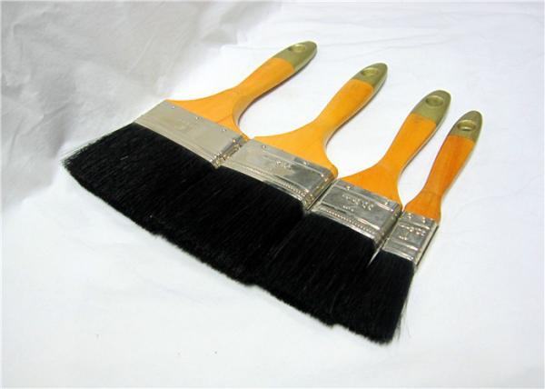Black Bristle Flat Paint Brushes For Walls Soft Deck Paint