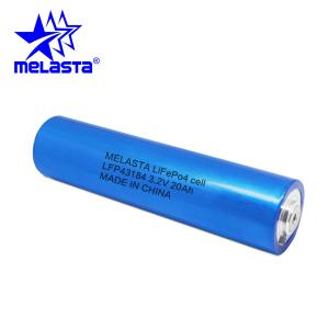 China LiFePo4 Lithium Ion 3.2V 20Ah LFP43184 High Capacity Rechargeable Battery Cell for Solar Power System Home on sale