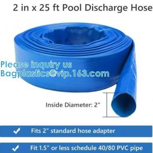 China General Purpose Reinforced PVC Lay-Flat Water Discharge Hose,For Use While Back-Washing Filters And Draining Pools on sale