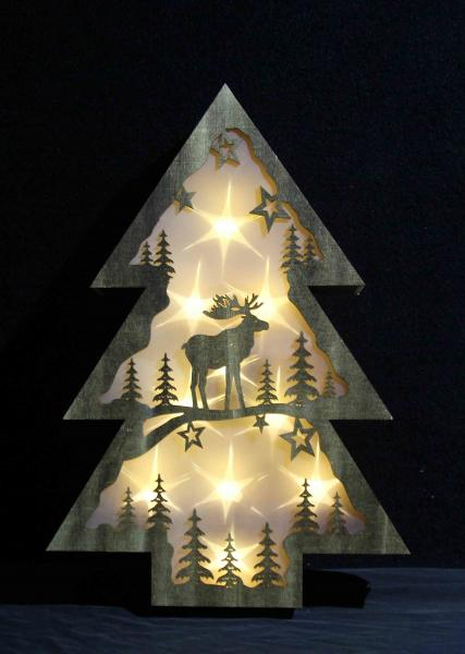wooden festival christmas tree shaped gift home decoration battery led light images - Wooden Led Christmas Decoration