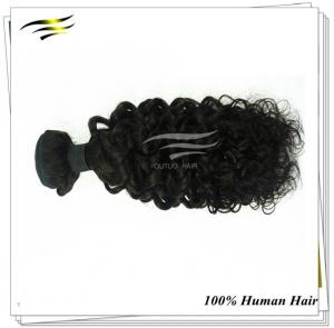 China Afro hair Indian Remy Hair human hair weaving Kinky Curly Natural Color 24'' on sale
