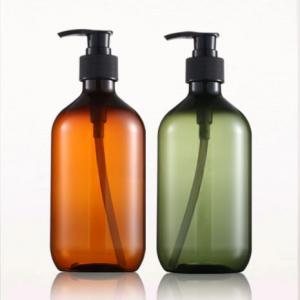 China 300ml 500ml Empty PET Plastic Bottle Shampoo Hair Care Bottle Packaging on sale