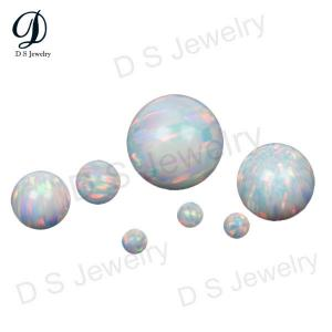 China High quality Round shape White synthetic opal stones on sale