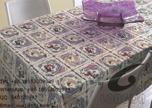 China Panos de tabela do poliéster do agregado familiar e cortinas de janela decorativas, rosas bonitas on sale