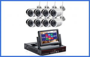 China 7 Inch Monitor 8 Channel NVR CCTV Camera Kits , HD Bullet Waterproof IP Wireless Camera on sale