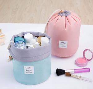 China Multi Purpose Cylinder Makeup Pouch Toiletry Pouch Storage Organizer Pouch Travel Drawstring Bag With Multi-Pockets on sale