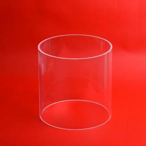 China custom Fused silica quartz glass Silica GlassLarge Diameter all size Quartz Glass Cylinder pipe clear polished on sale